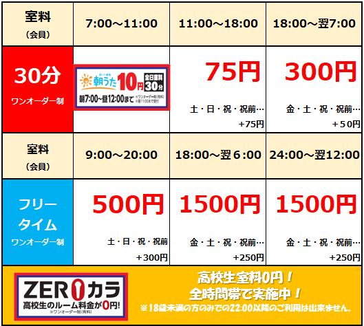 名古屋錦店 料金表.png
