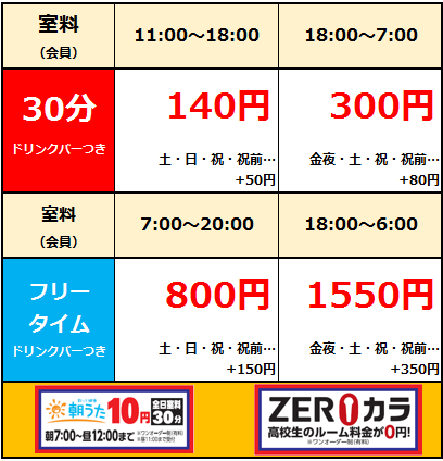 経堂農大通り店web料金.png